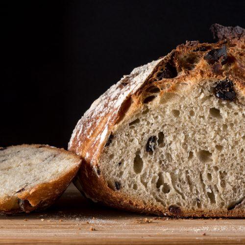 A big loaf of fresh bread.