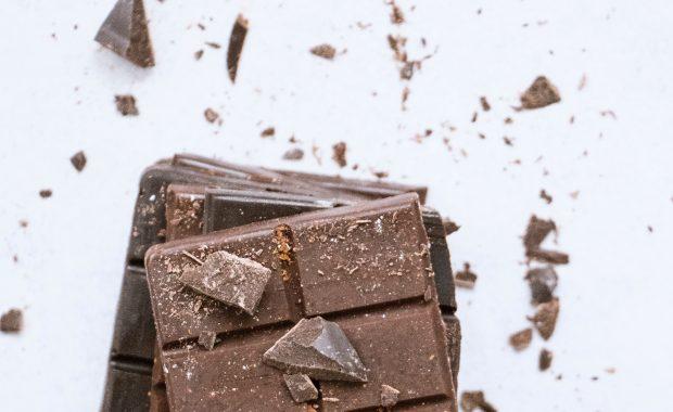 A block of chocolate.
