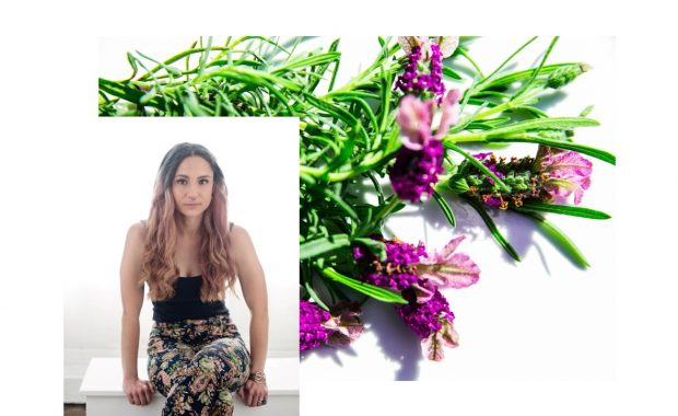 Book you appointment with Jenna. A picture or Jenna and lavender.